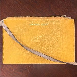 Michael Kors Mustard Flat Wallet